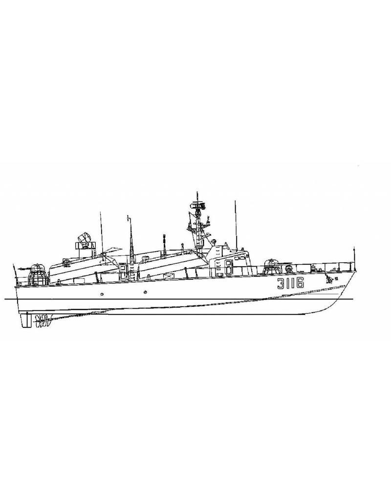"NVM 10.11.069 snelle raket aanvalsboot ""3116"""