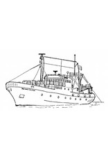 """NVM 10.13.019 visserij opleidingsschip """"Koningin Juliana"""" (1976) - Kon. Onderwijsfonds vd Scheepvaart"""