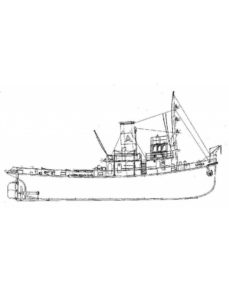 """NVM 10.14.025 havensleper ss """"Afrika"""" (1931) - P. Smit jr."""