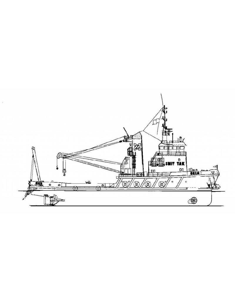 """NVM 10.14.070 bergingsvaartuig ms """"Orca"""" (1983) - Smit Tak; vanaf 1986 """"Smit Orca"""""""