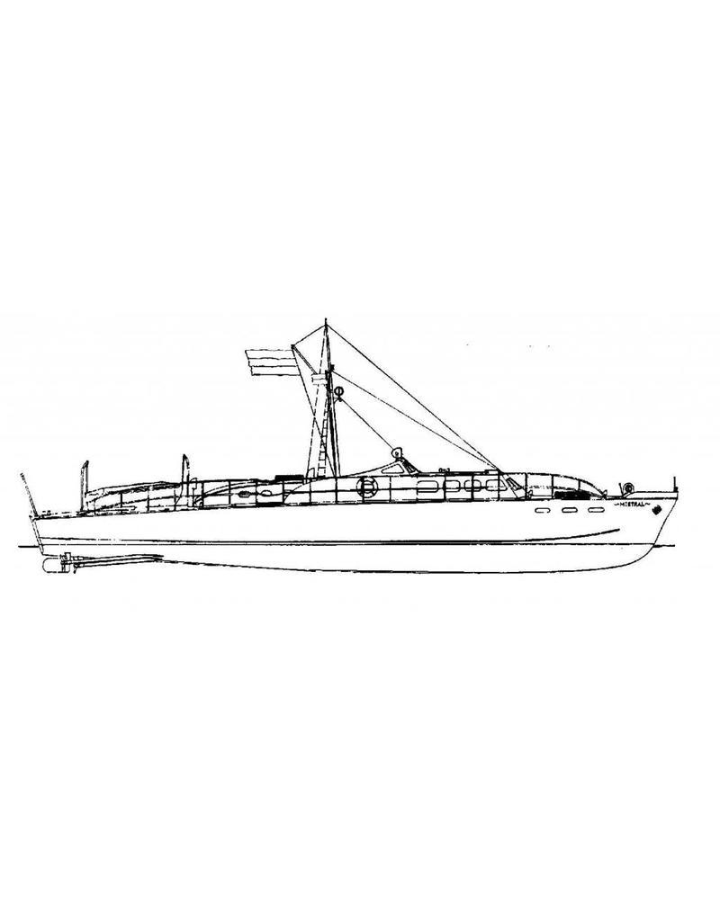 """NVM 10.16.003 zeewaardigmotor jacht """"Mistral"""""""