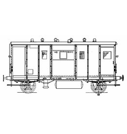 NVM 20.06.008 5 tons bagagewagen NS DG 2372 voor spoor I