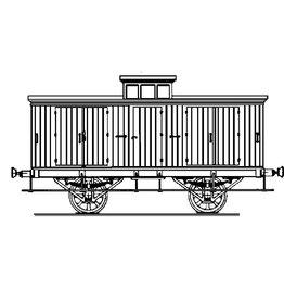 NVM 20.06.036 HSM bagagewagen 2 voor spoor 0