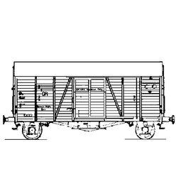 NVM 20.06.039 gesloten goederenwagen NS oppeln s-cho 14601 t/m 625 (ex Ghs) voor spoor 0