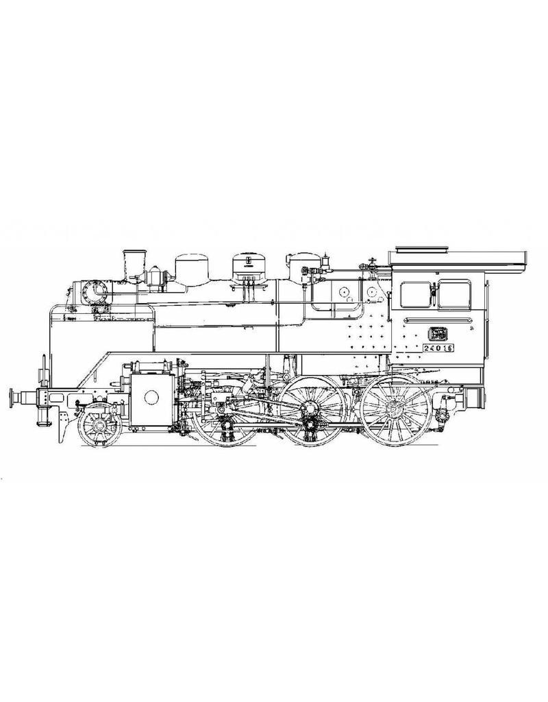 """NVM 20.20.033 1-C stoomlocomotief Baureihe 24(DB) - (""""Steppenpferd""""); voor spoor 5"""" (127 mm)"""