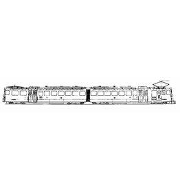 NVM 20.33.003 2-wagenstel ABD He 6/6 2031-2032 Brig-Visp-Zermatt-Bahn voor spoor H0