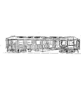 NVM 20.36.001 gesloten goederenwagen OJ6 2831-33 Brig-Visp-Zermat Bahn voor spoor H0