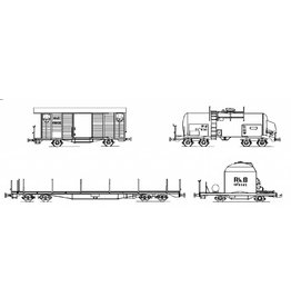 NVM 20.36.002 Diverse goederenwagens Rhaetische Bahn voor spoor H0