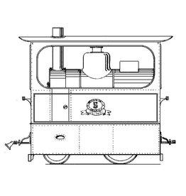 NVM 20.70.005 MET tramweglocomotief 1-15, rijtuigen AB 17-20