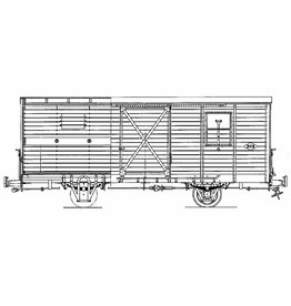 NVM 20.76.005 gesloten goederenwagen NCS/SS/NS 1-5; Zuiderzeetramweg; voor spoor 0