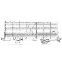 NVM 20.76.010 overdekte veewagen No 61 - 65; NCS/SS/NS; Zuiderzeetramweg; voor spoor 0