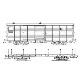 NVM 20.76.014 GOSM Rangeerwagen 95 - 96; goederentrein bagagewagen 1 - 2; (Allan, 1928);voor spoor 0