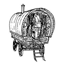 NVM 40.30.007 Engelse huifwoonwagen