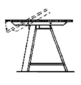 NVM 40.33.019 ronde klaptafel