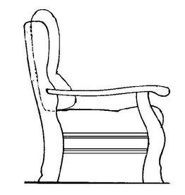 """NVM 40.33.043 fauteuil, naar """"Oisterwijk"""""""