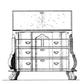NVM 45.19.009 Hollandse barok secretaire