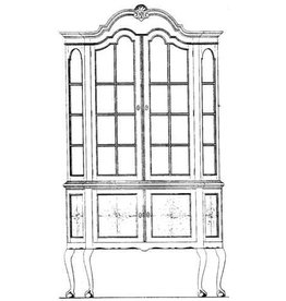 NVM 45.21.005 Chippendale vitrinekast