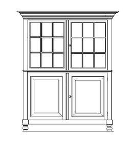 NVM 45.21.007 Noord-Brabantse vitrinekast