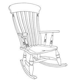 "NVM 45.37.002 Windsor schommelstoel, ""lath-back"""