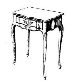 NVM 45.40.011 Regence tafel met bergruimte