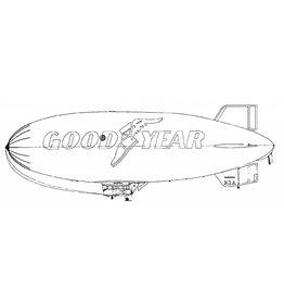 """NVM 50.30.001 luchtschip (""""Blimp"""") Good Year"""
