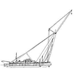 "NVM 10.19.004 drijvende bok ""Taklift 4"" (1981) - Smit Tak"