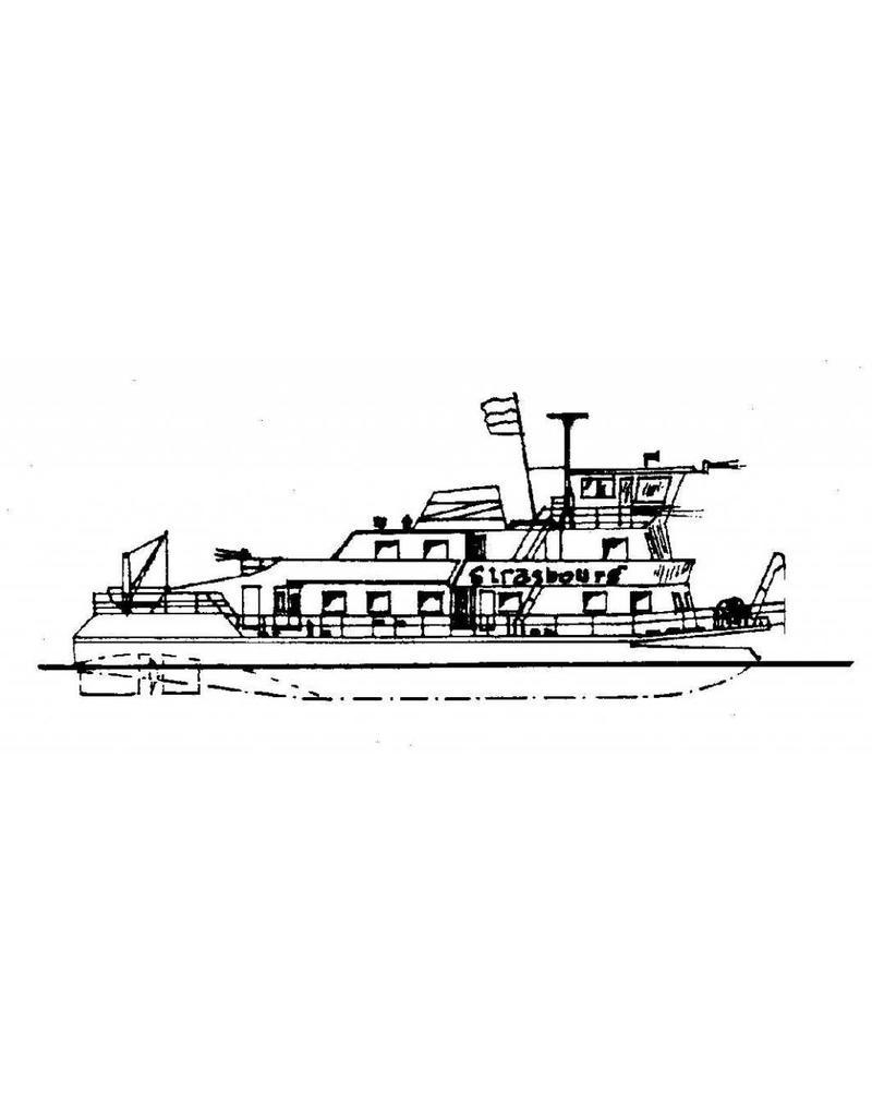 """NVM 10.20.043 duwboot ms """"Strasbourg"""" (1966) - Comp. Francaise de Navigation Rhenane"""