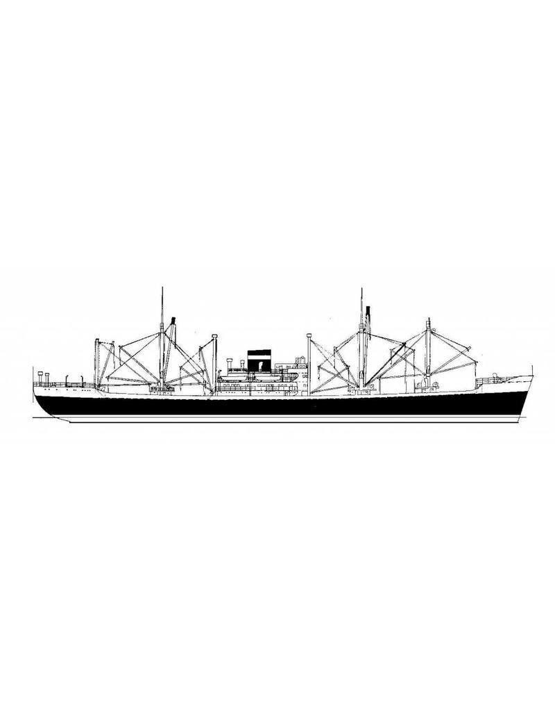 """NVM 10.20.081 vrachtschip ms """"Ouwerkerk"""" (1954) - VNS; """"Ommenkerk"""", """"Oldekerk"""", """"Oostkerk"""""""