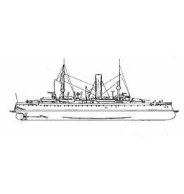 """NVM 16.11.029 pantserschip HrMs """"Evertsen"""" (1896)"""