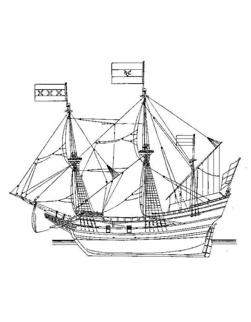 """NVM 10.00.009 koopvaarder """"d?Halve Maen"""" (ca. 1609)"""