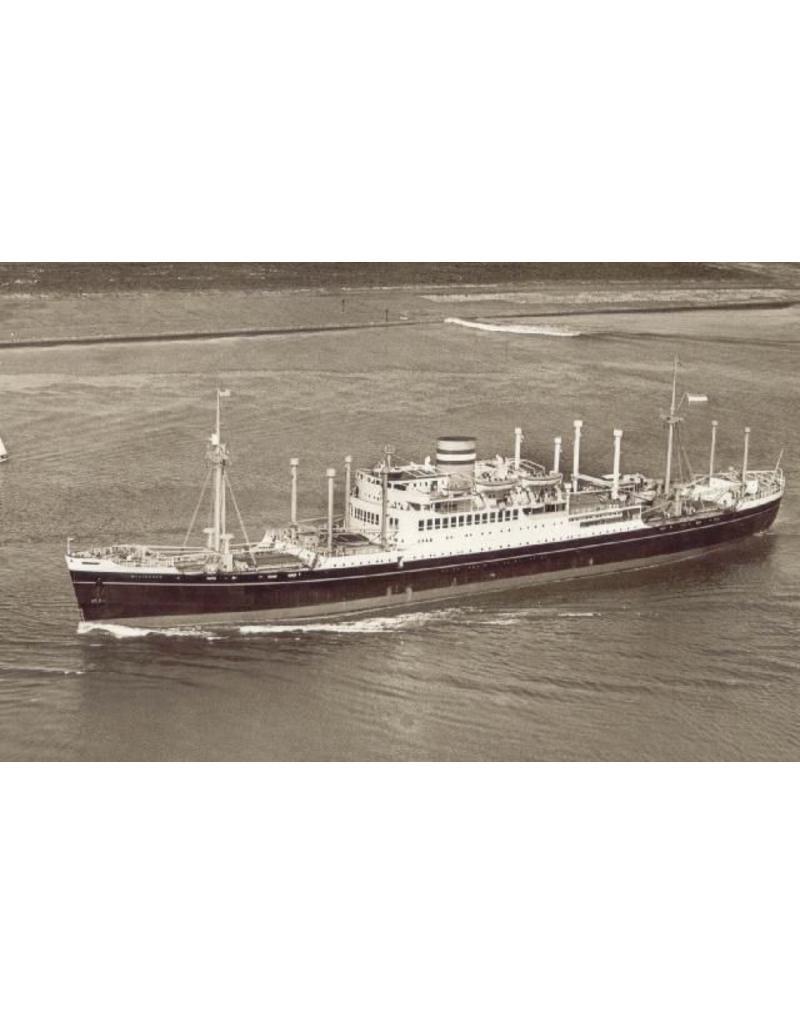 """NVM 10.10.009 vracht-passagierschip ss """"Westerdam"""" (1946) - HAL"""