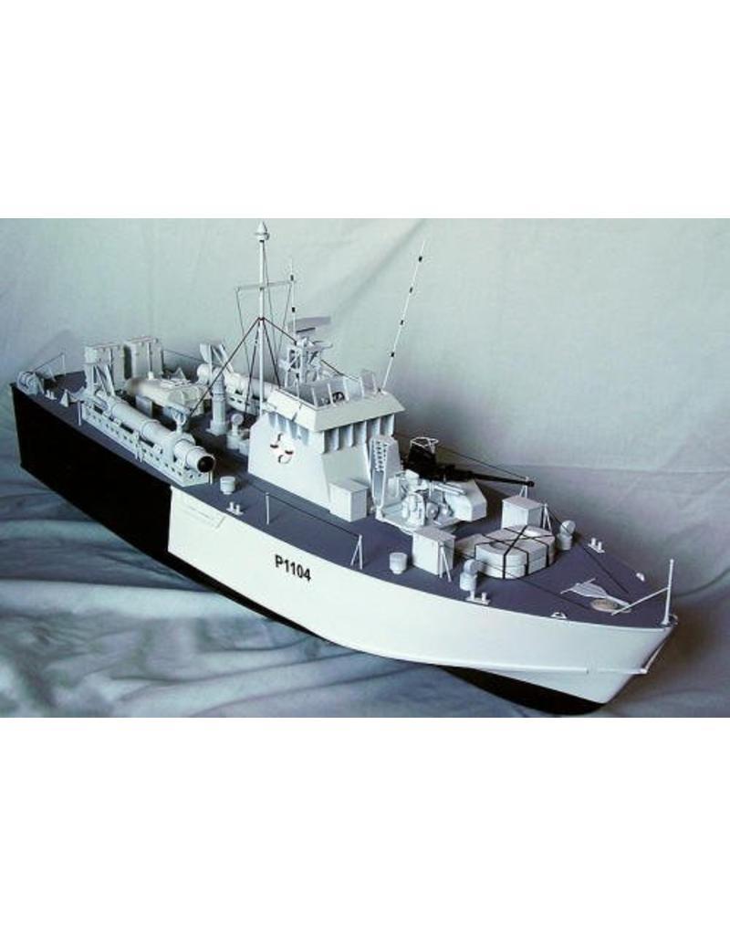 """NVM 10.11.014 Britse motortorpedoboot HMS """" Dark Agressor"""" P1102 (1954) - """"Dark"""" klasse P1101-1120"""