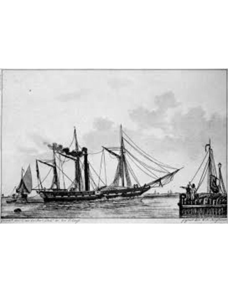 """NVM 10.11.078 ZMS stoompacket van oorlog ss """" Curacao"""" (1826) ex """"Calpe"""" (1825)"""