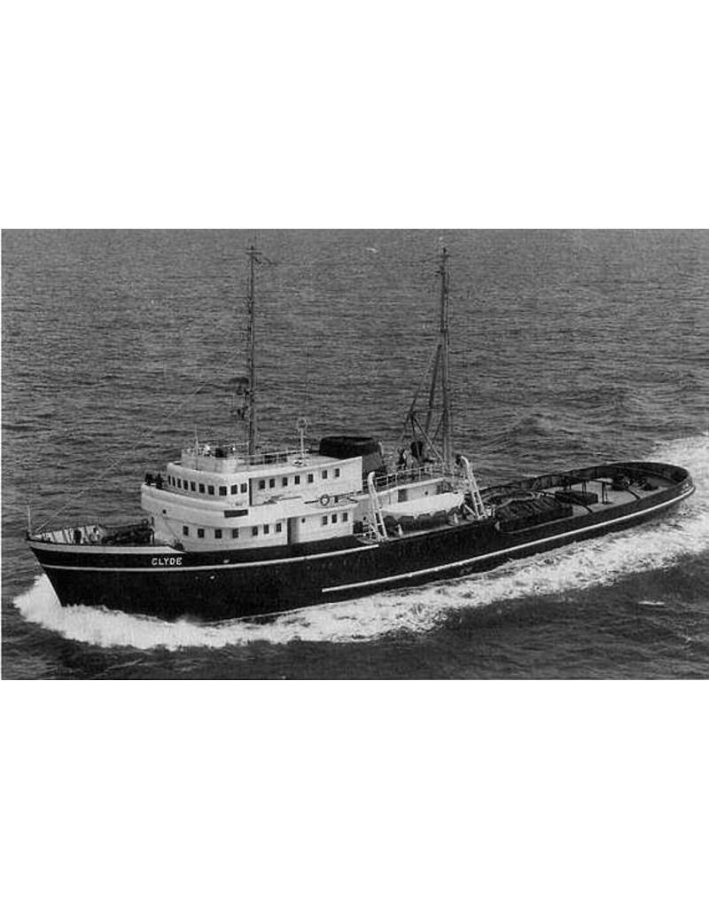 """NVM 10.14.008 ms """"Clyde"""" (1957)-L. Smit & Co. Int. Sleepd.-1973 """"Smit Salvor""""-Smit Int."""