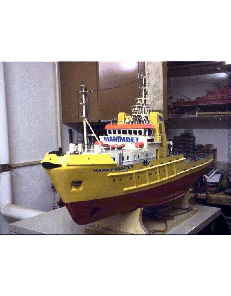 "NVM 10.14.041 zeesleper ms ""Happy Hunter"" (1976) - Mammoet Shipping; na 1982 ""Smit Hunter"""