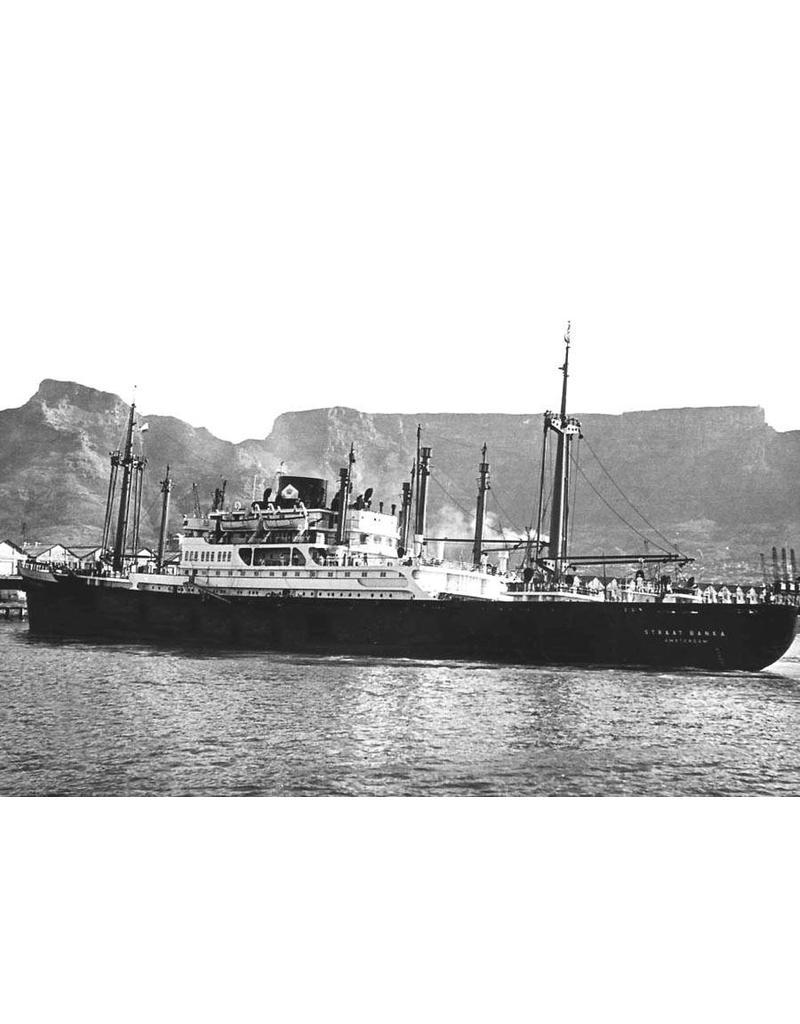 """NVM 10.20.036 vracht-pass. ms """"Straat Banka"""" (1951) - KJCPL"""
