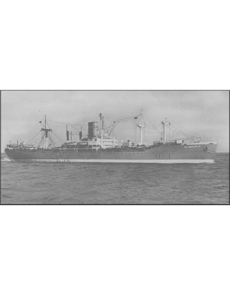 "NVM 16.10.008 troepentransportschip ss ""Zuiderkruis"" (1947) - SdN ; (ex ""Cranston Victory"" (1944)"