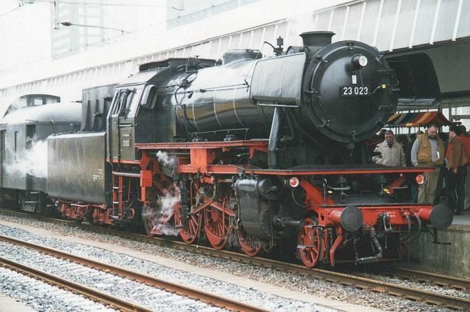 """NVM 20.20.026 stoomlocomotief SSN-23023 ex DB """"Baureihe 23""""; voor spoor  3,5"""" (89 mm) - Modelbouwtekeningen.nl"""