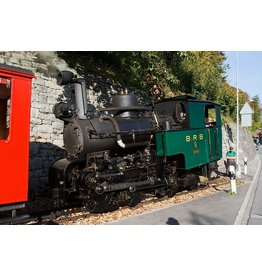 NVM 20.30.002 tandradlocomotief H 1-4 met rijtuig C21 - Brienz-Rothorn-Bahn voor spoor H0
