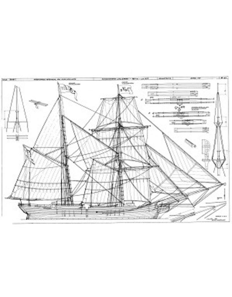 "NVM 10.00.021 Schoenerbrik "" Wilhelmina"" (1857)"