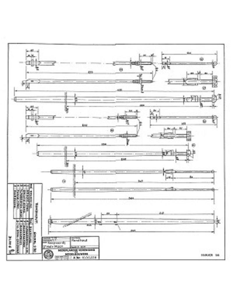 """NVM 10.00.028 koopvaarder """"d`Halve Maen"""" (ca 1600)"""