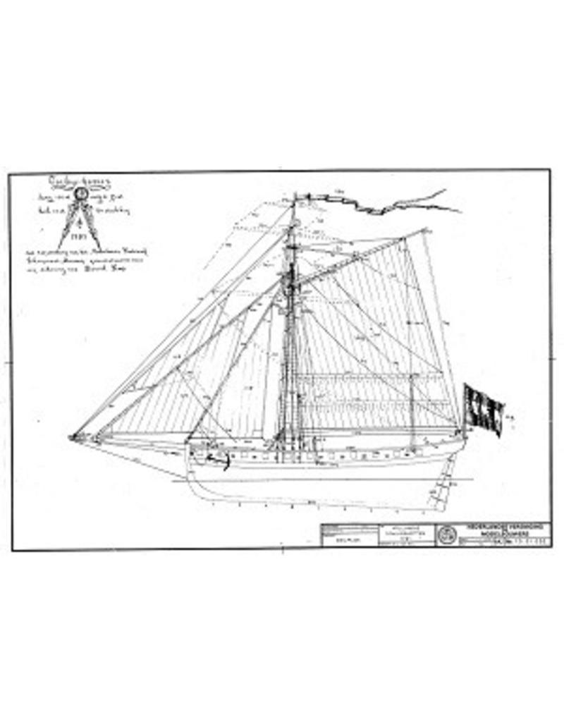 NVM 10.01.001 Hollandse oorlogskotter van 24 stukken (1781)