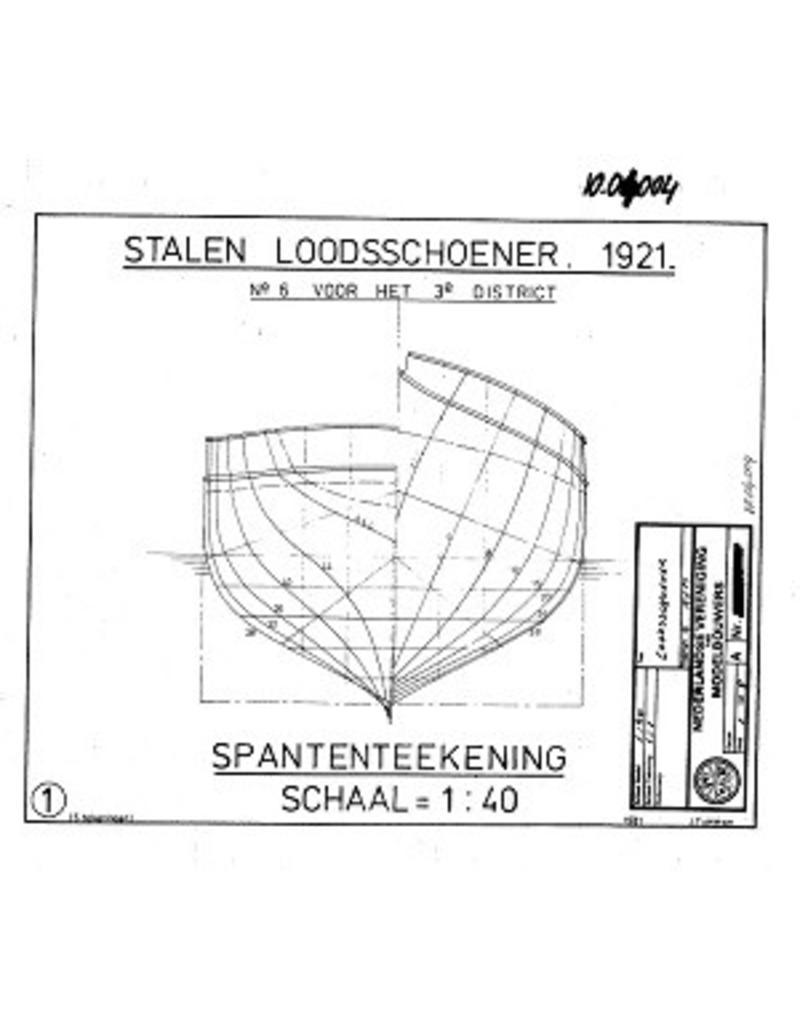 """NVM 10.04.004 stalen loodsschoener """"Nr. 6"""" voor het 3e district (1921)"""