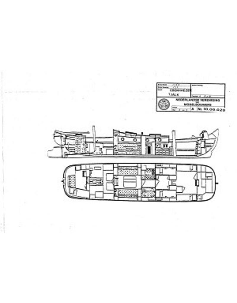 """NVM 10.06.020 Groninger tjalk """"Ebenhaezer"""" (tot jacht verbouwd)"""