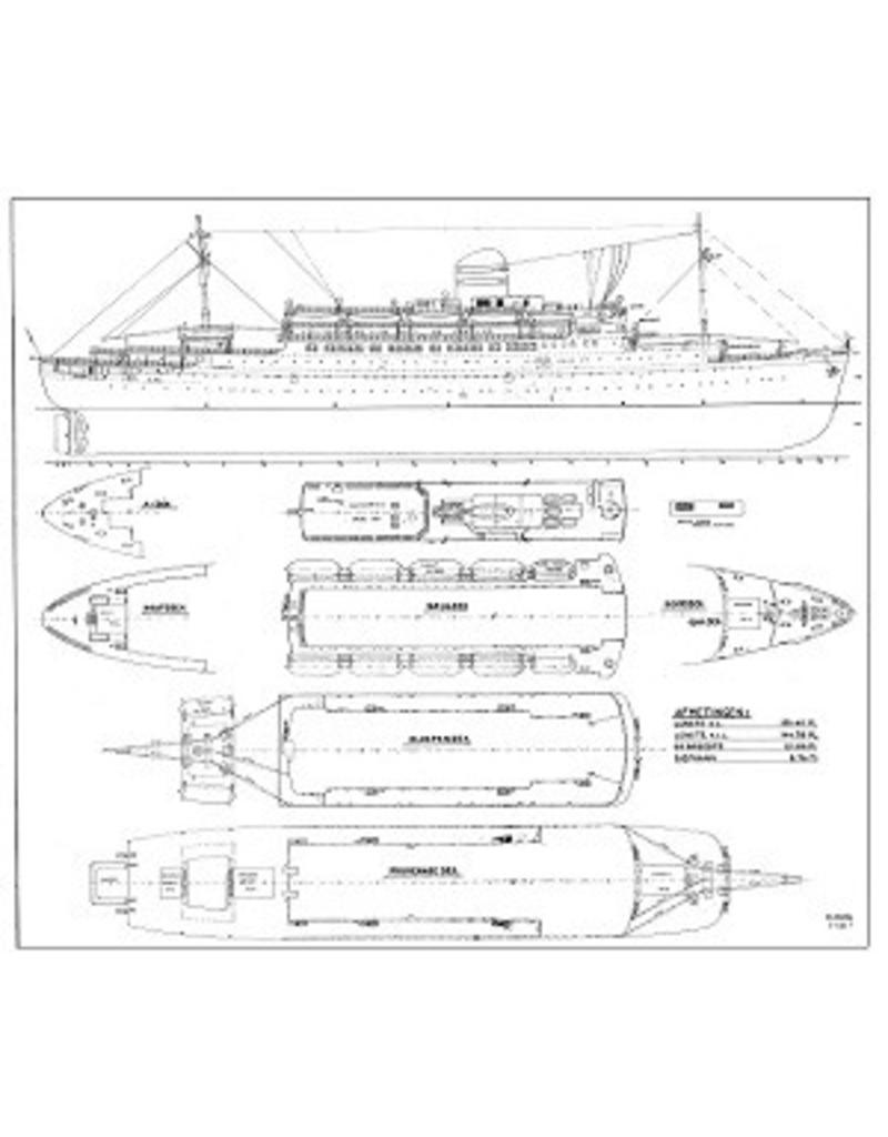 """NVM 10.10.006 passagiersschip ss """"Rijndam"""" (1951) - HAL"""
