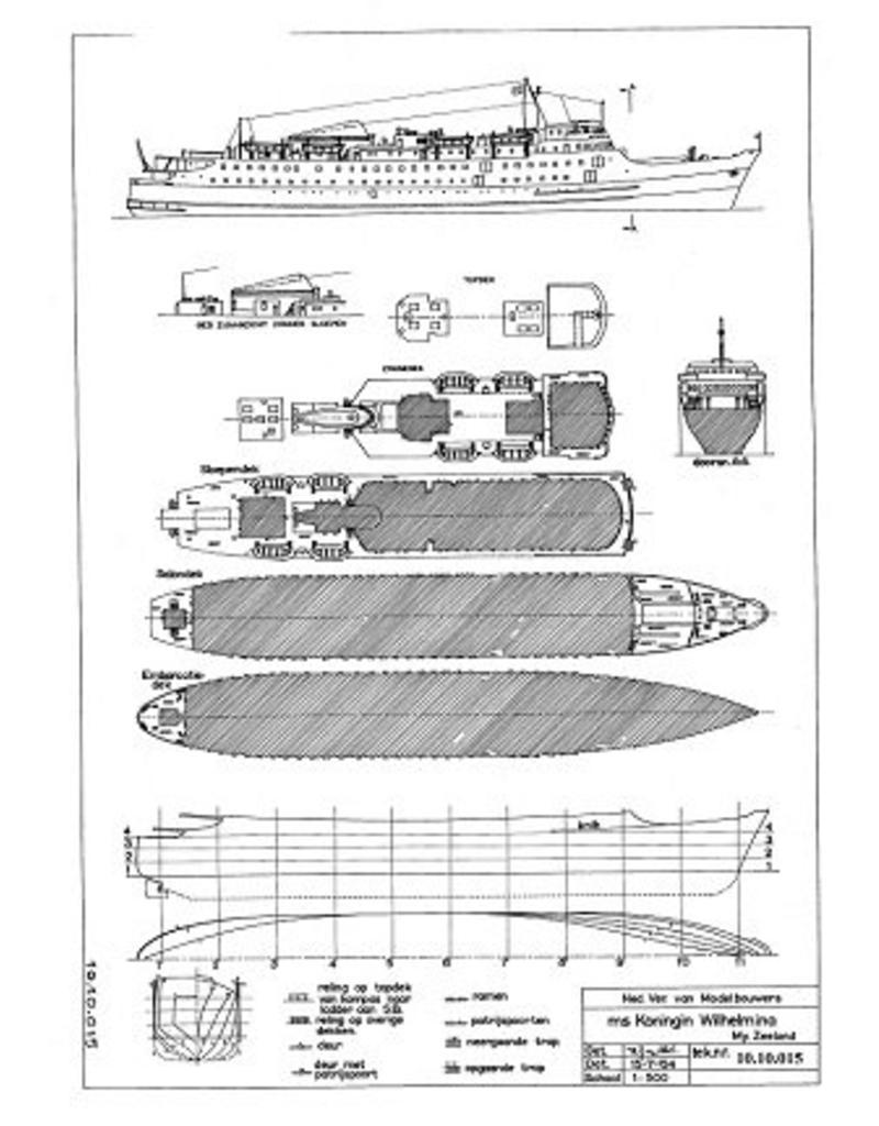 """NVM 10.10.015 veerboot ms """"Koningin Wilhelmina"""" (1960) - Mij. Zeeland"""