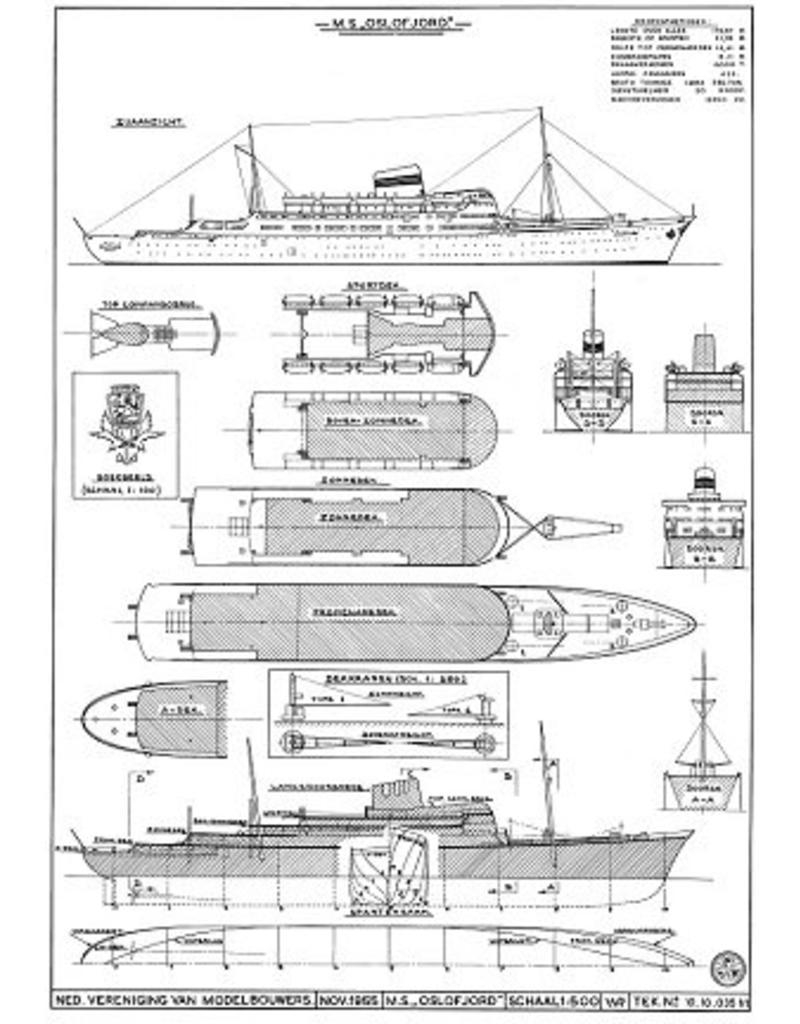 """NVM 10.10.035 passagierschip ms """"Oslofjord"""" (1949) - NAL"""