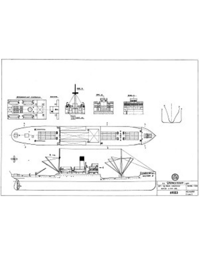 "NVM 10.10.055 vrachtschip ss ""Zaanstroom"" (1920) -HSM"