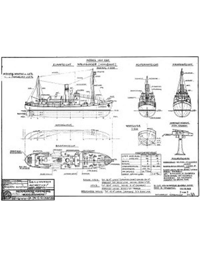 """NVM 10.10.068 walvisvaarder ms"""" Willem.Barendsz I"""" (1954) met vangboot - Mij. v.d. Walvisvaart"""
