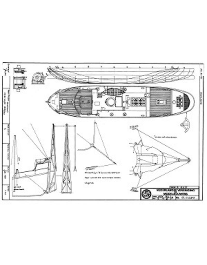 NVM 10.11.030 HrMs sleepboot-mijnenvegers M1 t/m M4 (1918)